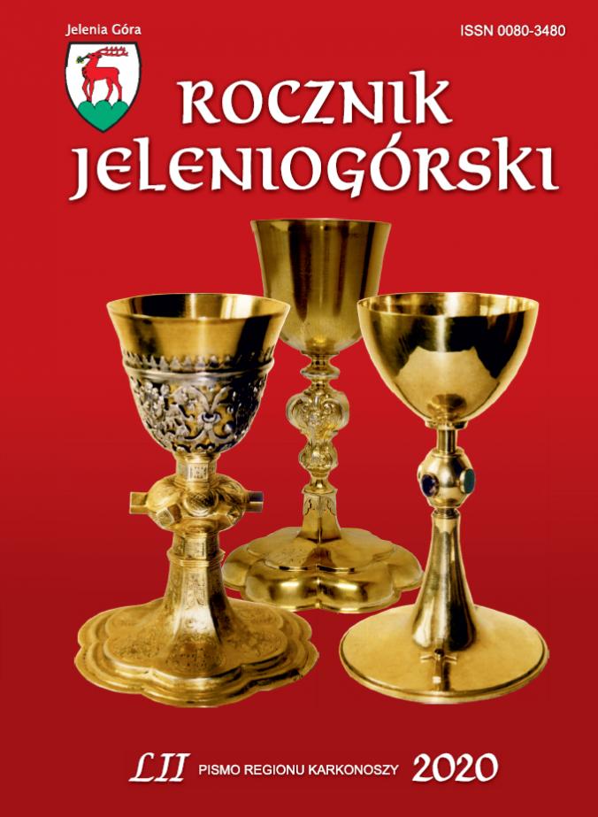 Na okładce kielichy z kościoła pw. św. Jana Chrzciciela w Cieplicach.